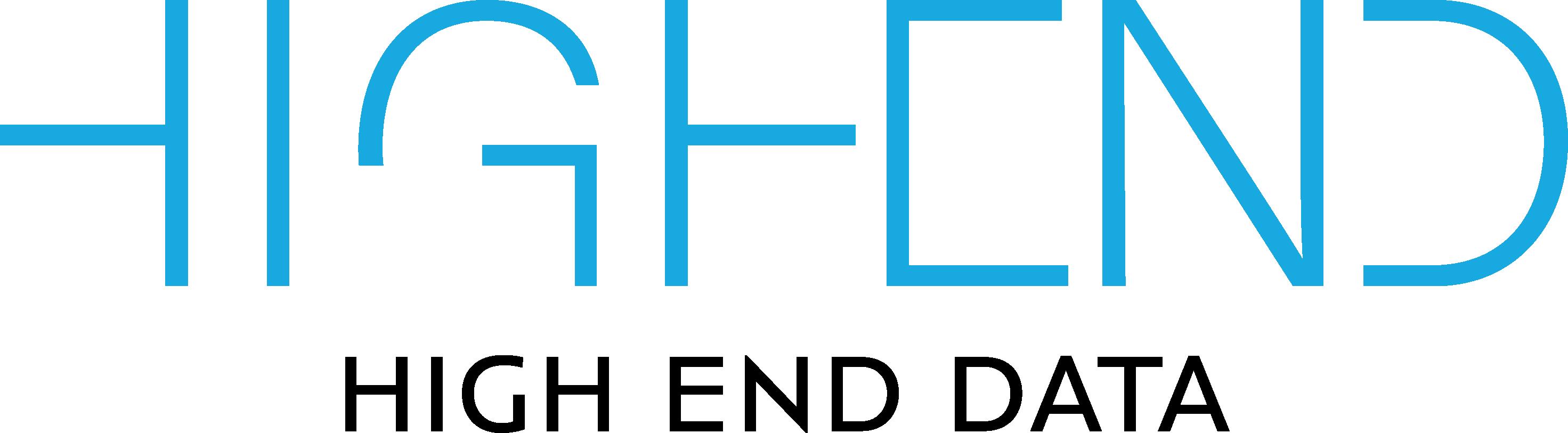 logo High End Data blå sort