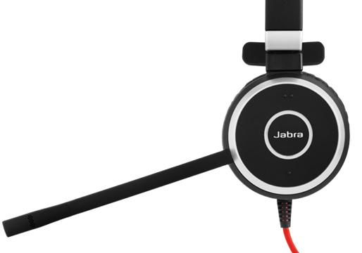 Jabra Evolve 40 MS Mono Hodesett Hodebånd Svart