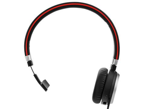 Jabra Evolve 65 UC Mono Hodesett Hodebånd Bluetooth Svart