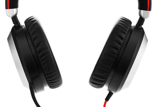 Jabra Evolve 80 MS Stereo Hodesett Hodebånd Svart