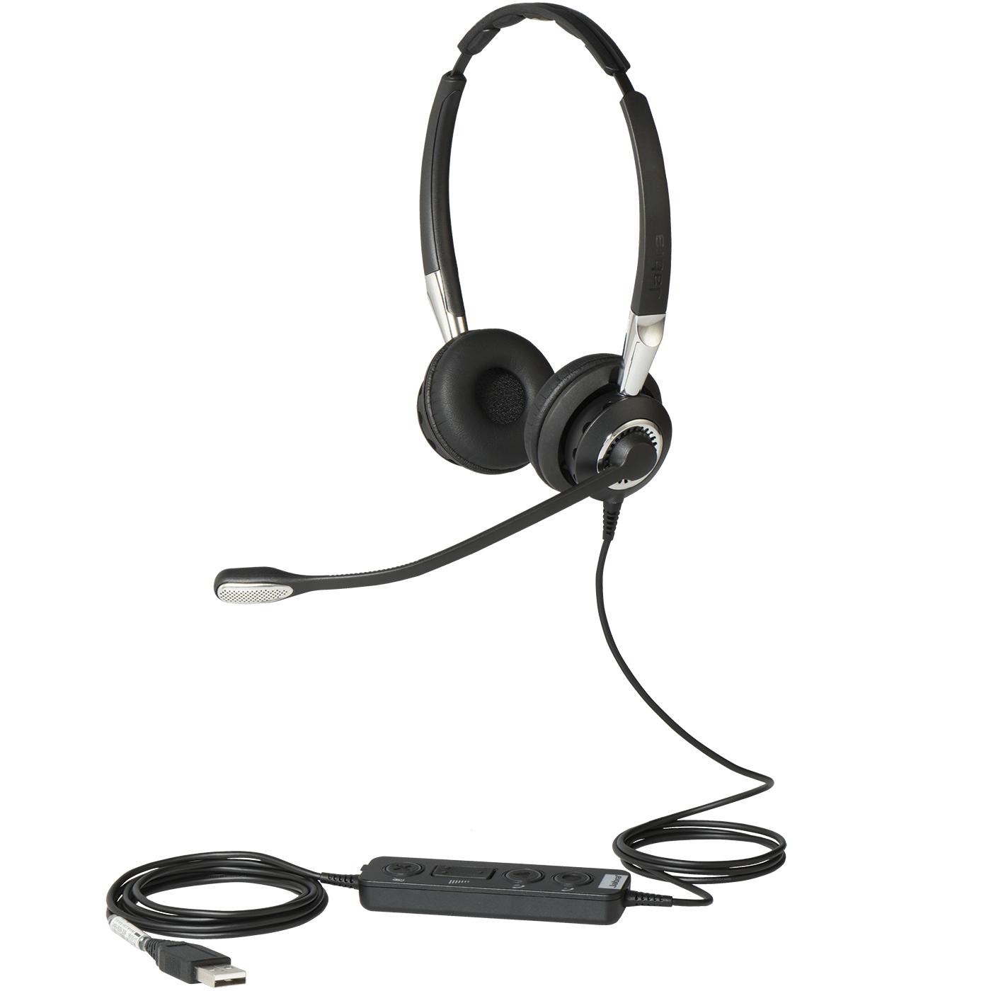 Jabra Biz 2400 II USB Duo CC MS Hodesett Hodebånd Svart, Sølv