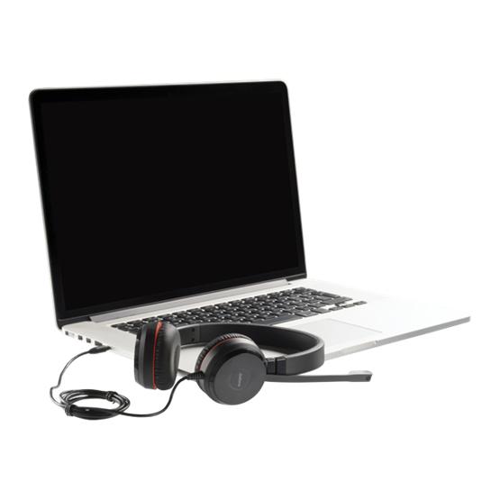 Jabra Evolve 30 II Hodesett Hodebånd 3,5 mm-kontakt Svart