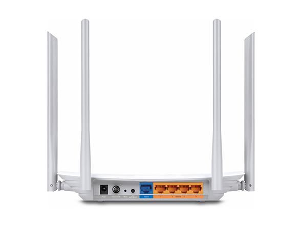 TP-LINK Archer C50 trådløs ruter Raskt Ethernet Dobbelbånd (2.4 GHz / 5 GHz) Hvit