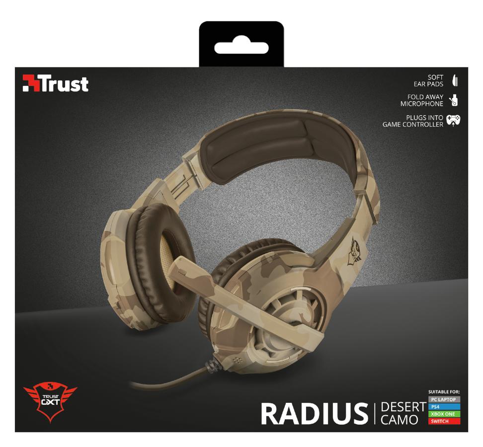 Trust GXT 310D Radius Hodesett Hodebånd 3,5 mm-kontakt Kamuflasje