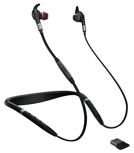 Jabra Evolve 75e Hodesett Halsbånd Bluetooth Svart