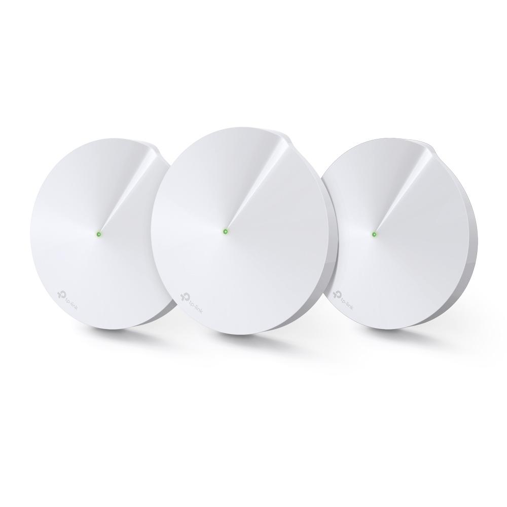 TP-LINK Deco M9 Plus(3-pack) Tri-band (2.4 GHz / 5 GHz / 5 GHz) Wi-Fi 5 (802.11ac) Hvit 2 Innvendig lys