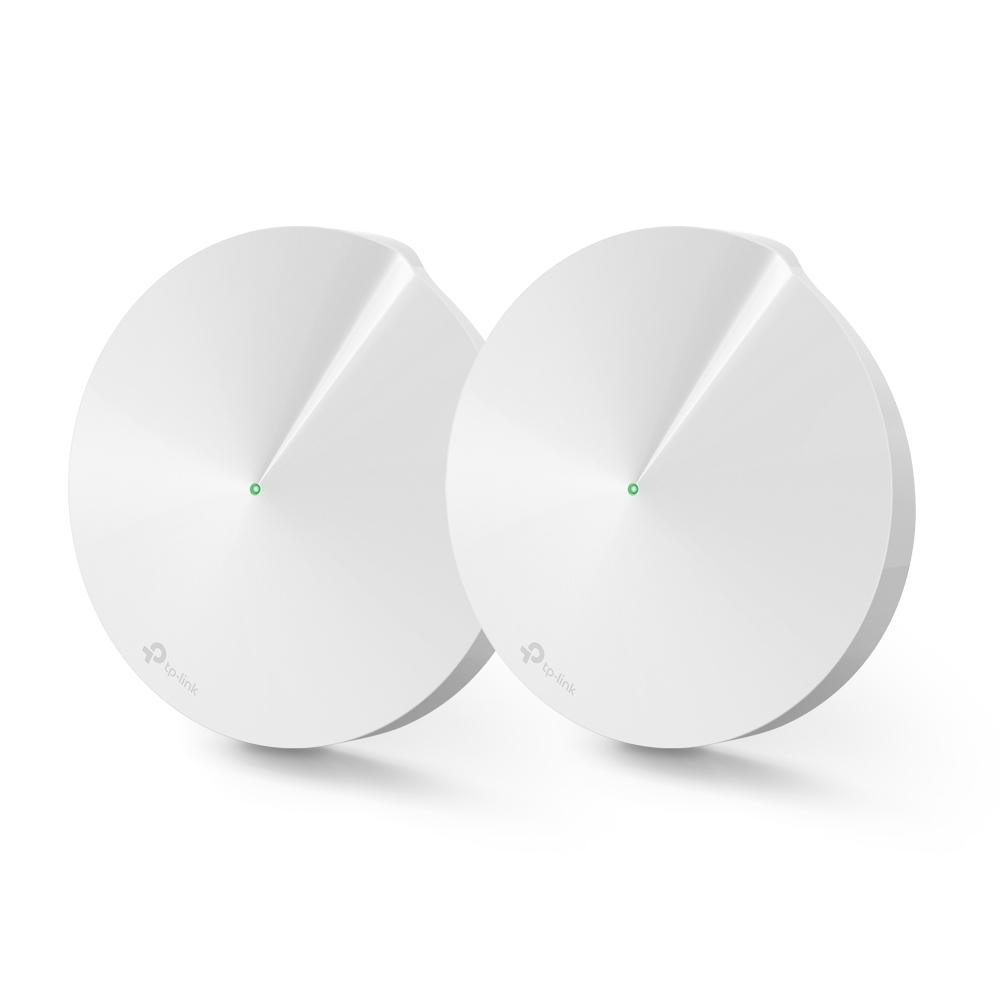 TP-LINK Deco M9 Plus(2-pack) Tri-band (2.4 GHz / 5 GHz / 5 GHz) Wi-Fi 5 (802.11ac) Hvit Innvendig lys