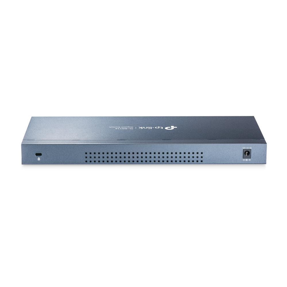 TP-LINK TL-SG116 Uhåndtert L2 Gigabit Ethernet (10/100/1000) Svart
