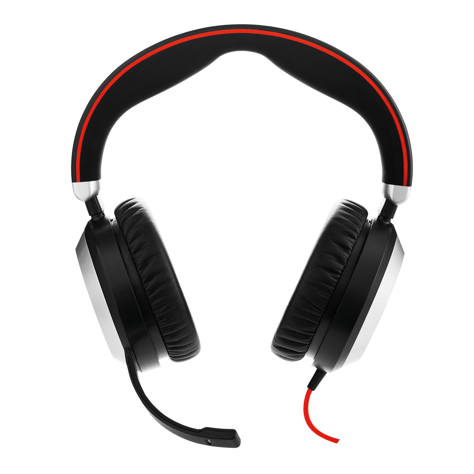 Jabra Evolve 80 Stereo UC USB-C Hodesett Hodebånd 3,5 mm-kontakt USB Type-C Svart