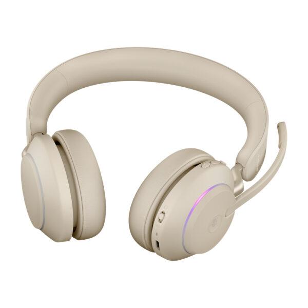 Jabra Evolve2 65, MS Stereo Hodesett Hodebånd USB Type-C Bluetooth Beige