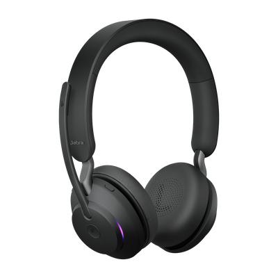 Jabra Evolve2 65, MS Stereo Hodesett Hodebånd USB Type-C Bluetooth Svart