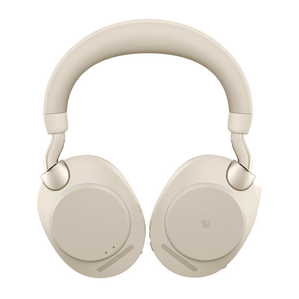 Jabra Evolve2 85, MS Stereo Hodesett Hodebånd 3,5 mm-kontakt USB Type-C Bluetooth Beige