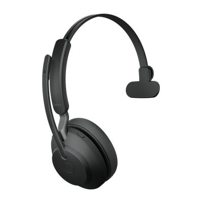 Jabra Evolve2 65, UC Mono Hodesett Hodebånd USB Type-C Bluetooth Svart