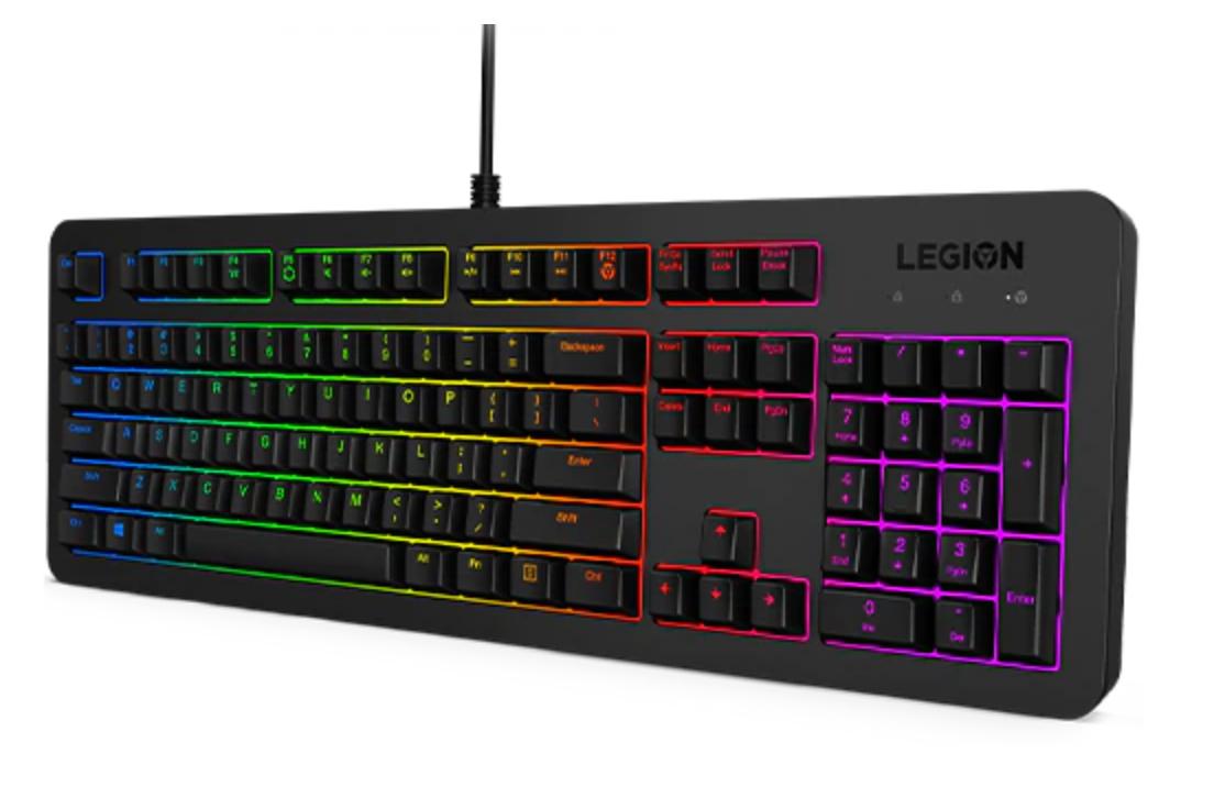 Lenovo Legion K300 RGB tastatur USB QWERTY Nordisk Svart
