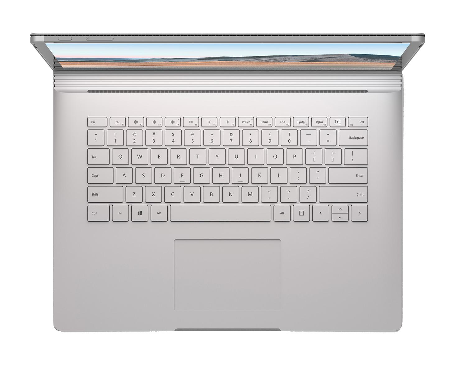 """Microsoft Surface Book 3 LPDDR4x-SDRAM Hybrid (2-in-1) 38,1 cm (15"""") 3240 x 2160 piksler Berøringsskjerm 10th gen Intel® Core™ i7 32 GB 1000 GB SSD NVIDIA® Quadro® RTX 3000 Max-Q Wi-Fi 6 (802.11ax) Windows 10 Pro Platina"""