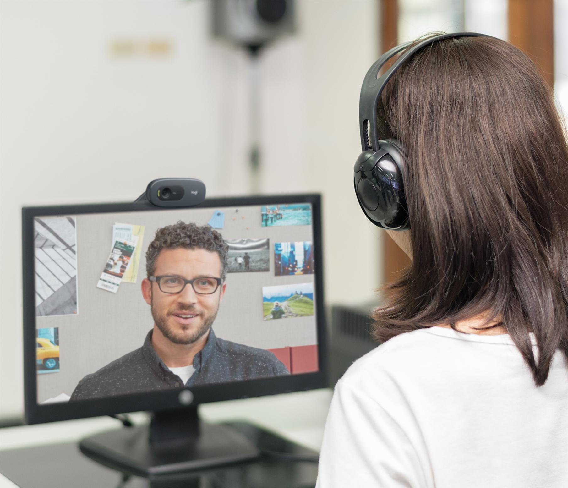 Logitech C505e webkamera 1280 x 720 piksler USB Svart