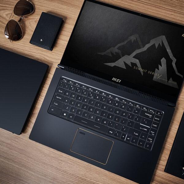 """MSI Summit E14 A11SCST-069NE LPDDR4-SDRAM Notebook 35,6 cm (14"""") 1920 x 1080 piksler Berøringsskjerm 11th gen Intel® Core™ i7 16 GB 1000 GB SSD NVIDIA GeForce GTX 1650 Ti Max-Q Wi-Fi 6 (802.11ax) Windows 10 Pro Svart"""