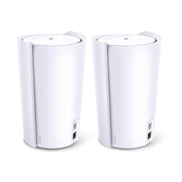TP-LINK Deco X90 (2-pack) Tri-band (2.4 GHz / 5 GHz / 5 GHz) Wi-Fi 6 (802.11ax) Hvit Innvendig lys