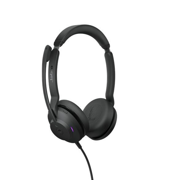 Jabra Evolve2 30, MS Stereo Hodesett Hodebånd USB Type-C Svart