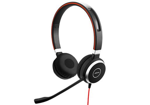 Jabra Evolve 40 MS Stereo Hodesett Hodebånd 3,5 mm-kontakt Svart