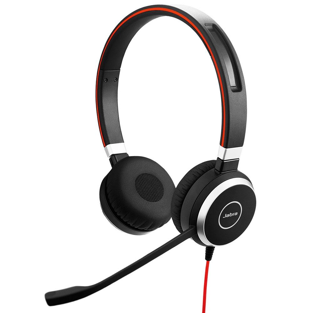 Jabra Evolve 40 UC Stereo Hodesett Hodebånd Svart