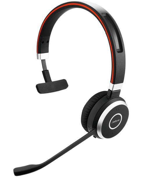 Jabra Evolve 65 MS Mono Hodesett Hodebånd Bluetooth Svart