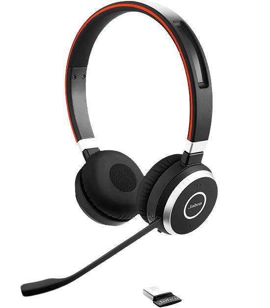 Jabra Evolve 65 UC Stereo Hodesett Hodebånd Bluetooth Svart