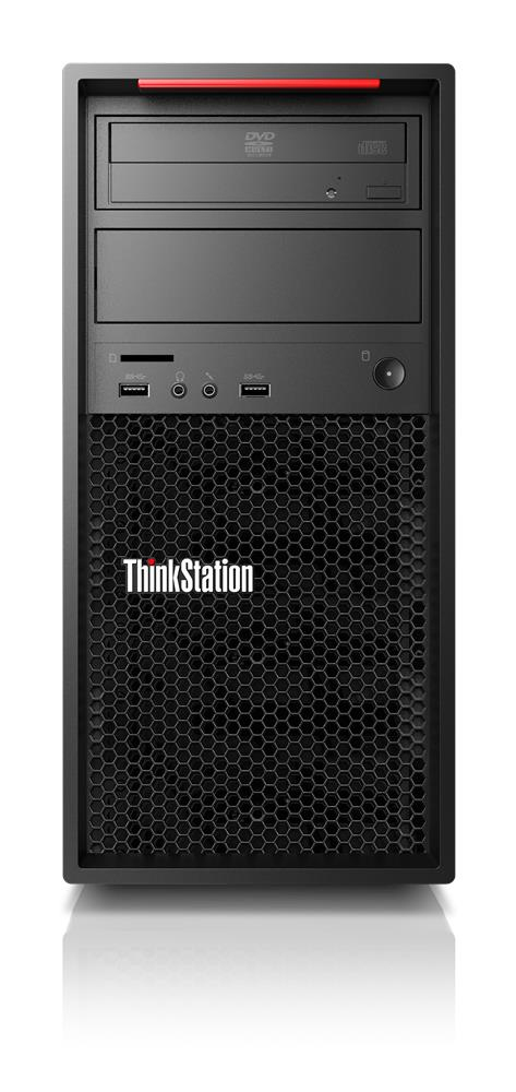 Lenovo ThinkStation P520c DDR4-SDRAM W-2125 Tower Intel® Xeon® 16 GB 512 GB SSD Windows 10 Pro for Workstations Arbeidsstasjon Svart