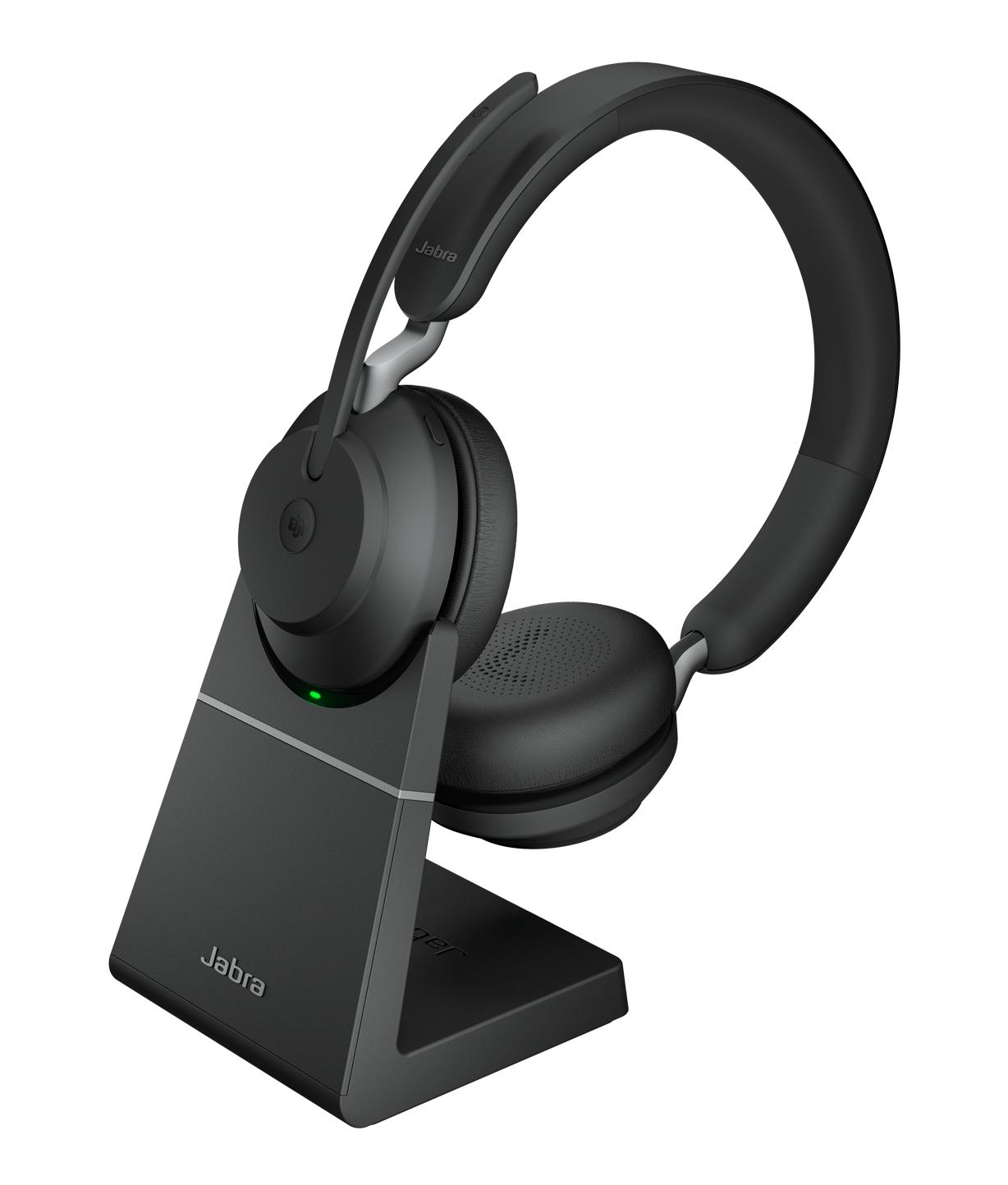 Jabra Evolve2 65, MS Stereo Hodesett Hodebånd USB Type-A Bluetooth Svart