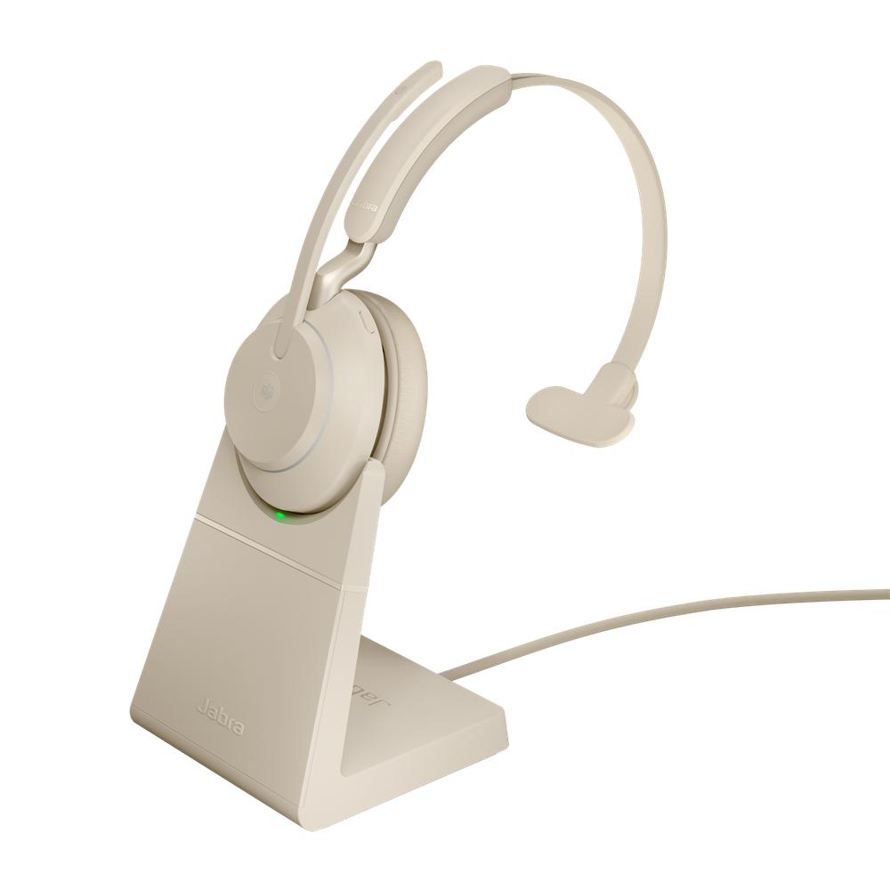 Jabra Evolve2 65, MS Mono Hodesett Hodebånd USB Type-C Bluetooth Beige