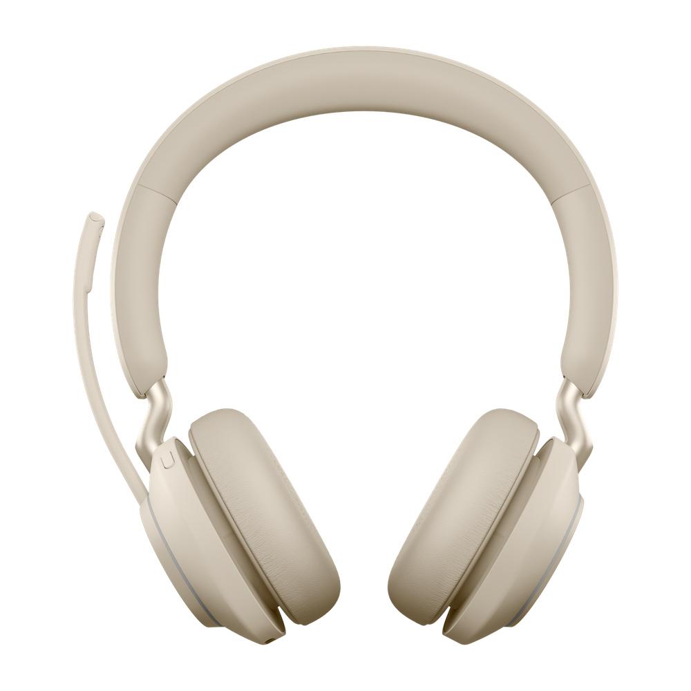 Jabra Evolve2 65, MS Stereo Hodesett Hodebånd Bluetooth Beige