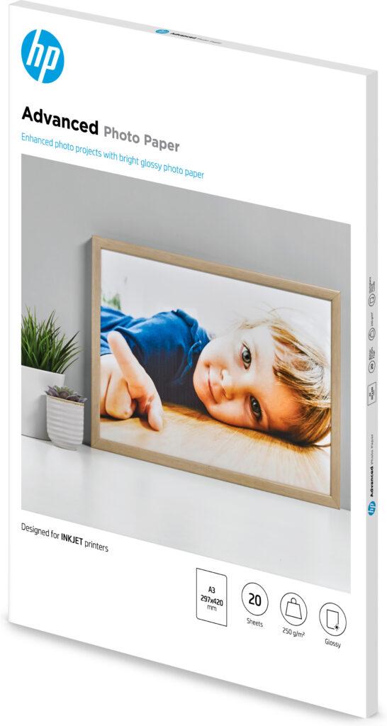 HP Advanced glanset fotopapir – 20 ark/A3/297 x 420 mm