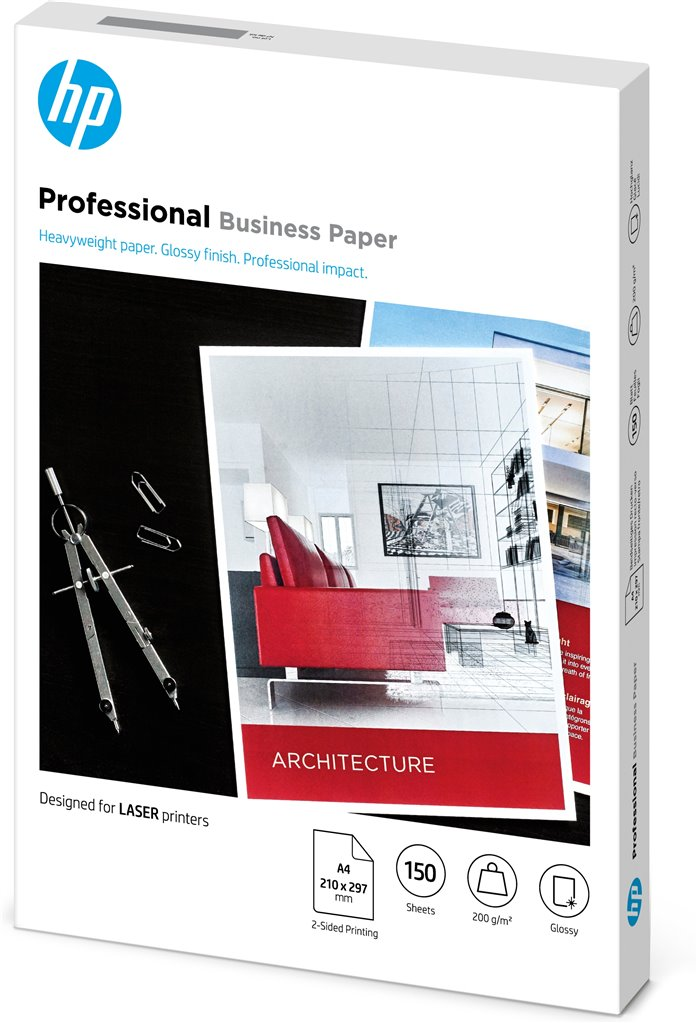 HP Laser Professional forretningspapir – A4, glanset, 200gsm