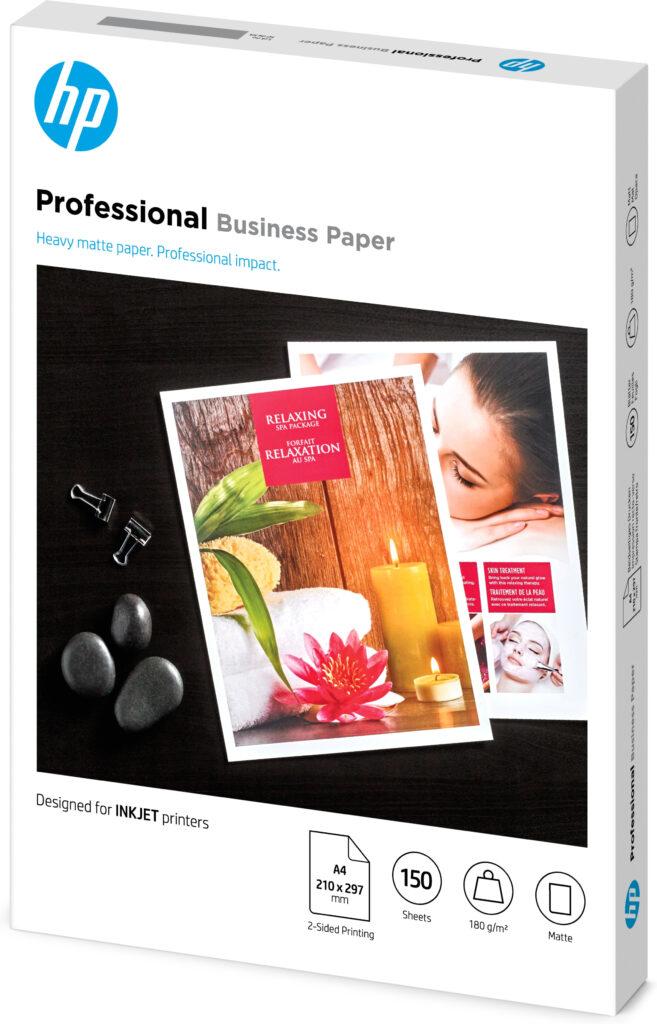HP Inkjet og PageWide profesjonelt forretningspapir – A4, Matt, 180 gsm