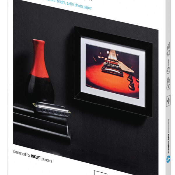 HP Premium Plus halvglanset fotopapir – 20 ark/A4/210 x 297 mm