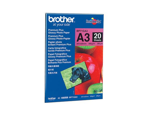 Brother BP71GA3 fotopapir A3 Blå, Rød Gloss
